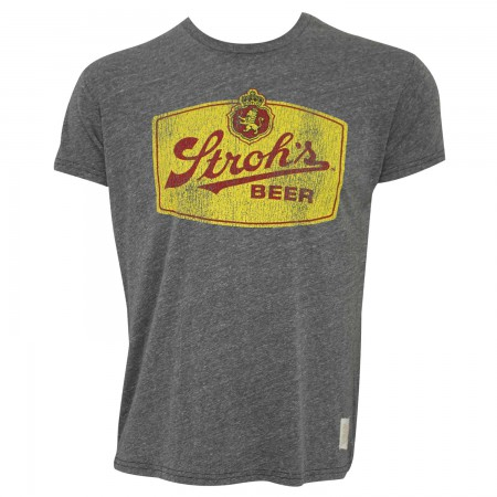 Stroh's Men's Grey Retro T-Shirt