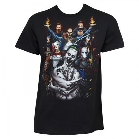 Suicide Squad Men's Black Characters T-Shirt