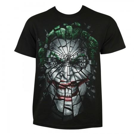 Joker Men's Black Shattered Face T-Shirt
