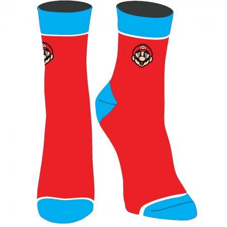 Super Mario Embroidered Juniors Red Socks