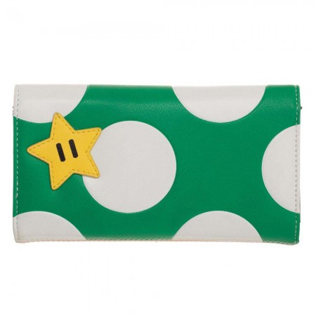 Super Mario Bros. Green Mushroom Flap Wallet