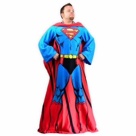 Superman Costume Snuggie Blanket Cozy