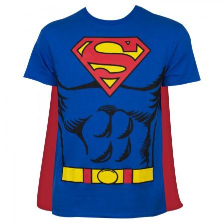 Superman Men's Blue Caped Costume T-Shirt