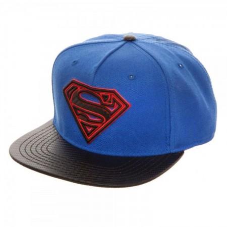 Superman Carbon Fiber Snapback Hat