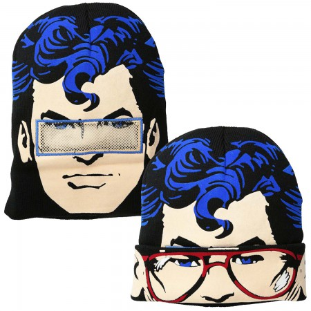 Superman Flip Down Knit Sublimation Beanie