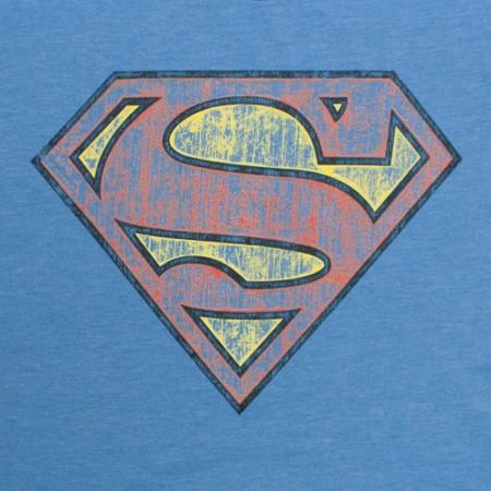 Superman Premium Quality Vintage Logo T-Shirt