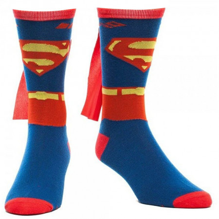 Superman Red And Blue Men's Cape Socks