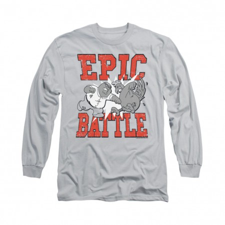 Family Guy Epic Battle Gray Long Sleeve T-Shirt
