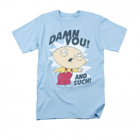 Family Guy Men's Blue Stewie Damn You T-Shirt