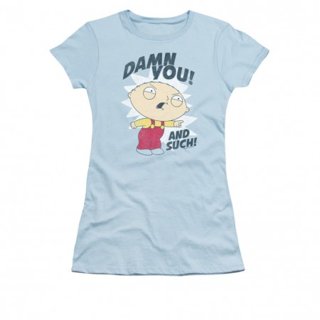 Family Guy Stewie Damn You Blue Juniors T-Shirt