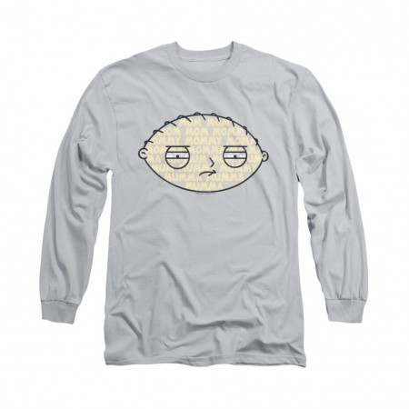 Family Guy Stewie Mom Face Gray Long Sleeve T-Shirt