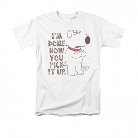 Family Guy Brian Pick It Up White T-Shirt