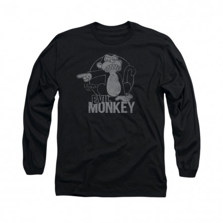 Family Guy Evil Monkey Black Long Sleeve T-Shirt