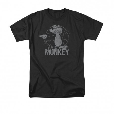 Family Guy Men's Black Evil Monkey T-Shirt