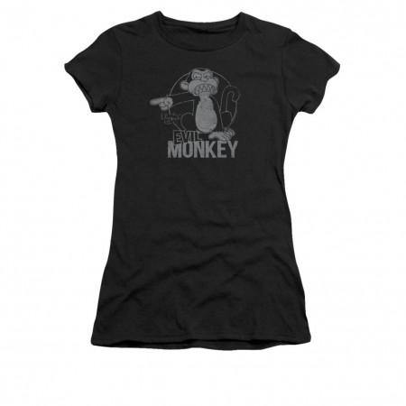 Family Guy Evil Monkey Black Juniors T-Shirt