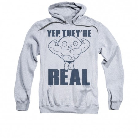 Family Guy Stewie Real Build Gray Pullover Hoodie