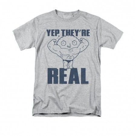 Family Guy Stewie Yep They're Real Gray T-Shirt