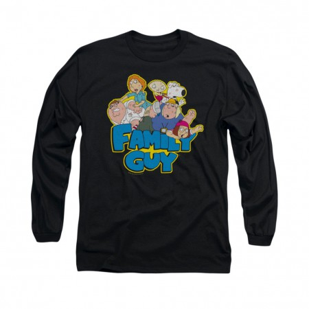 Family Guy Family Fight Black Long Sleeve T-Shirt