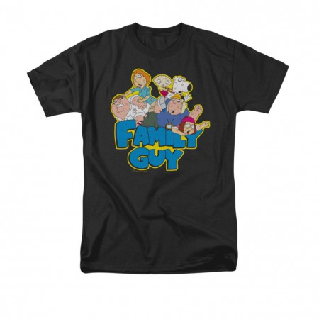 Family Guy Family Fight Black T-Shirt