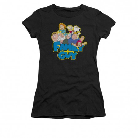 Family Guy Logo Black Juniors T-Shirt