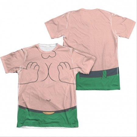 Family Guy Peter Costume Squished Sublimation T-Shirt
