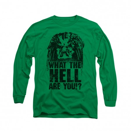 Predator What Are You Green Long Sleeve T-Shirt