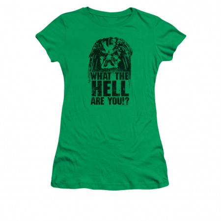 Predator What The Hell Are You Green Juniors T-Shirt