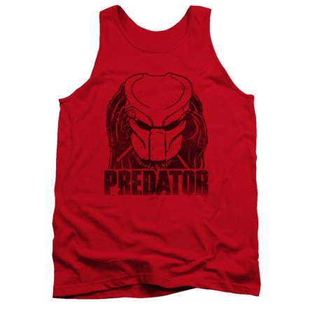 Predator Logo Red Tank Top