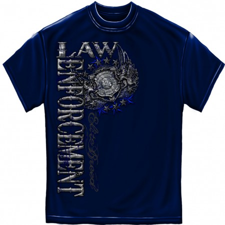 Police Law Enforcement Elite Breed Foil Blue T-Shirt