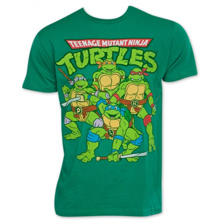 Teenage Mutant Ninja Turtles Green Group TShirt
