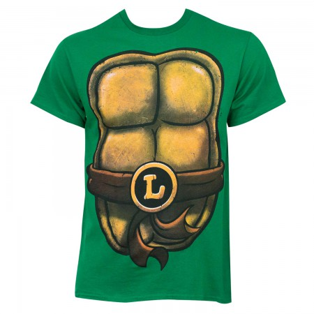 TMNT Leonardo Men's Green Costume T-Shirt