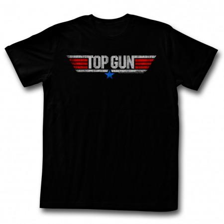 Top Gun Logo Black Tshirt