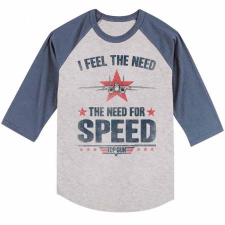Top Gun Needing Speed Gray TShirt