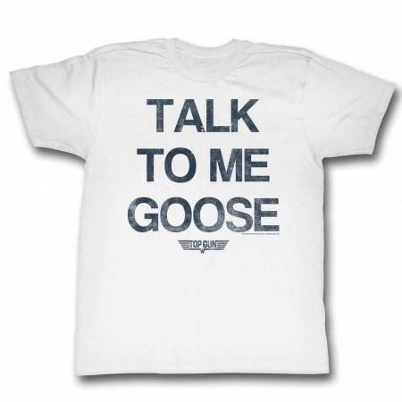 Top Gun Talk Goose White TShirt