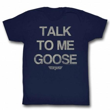 Top Gun Talk Goose Blue TShirt