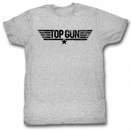 Top Gun Logo Gray TShirt