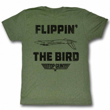 Top Gun Da Bird Green TShirt