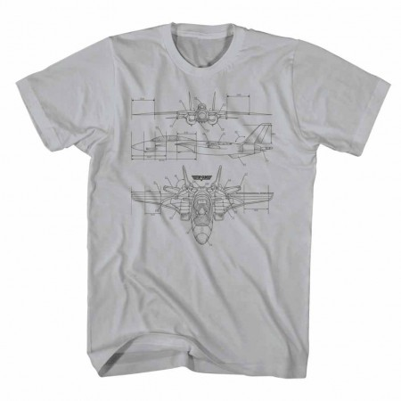 Top Gun Technicolor Gray TShirt