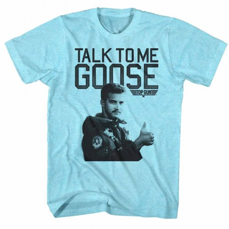 Top Gun Talk To Me Blue TShirt