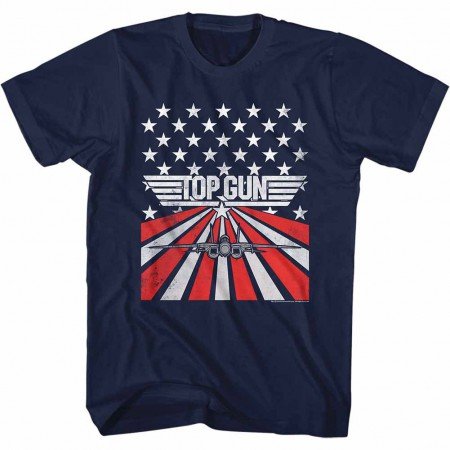 Top Gun Stars & Stripes Blue TShirt
