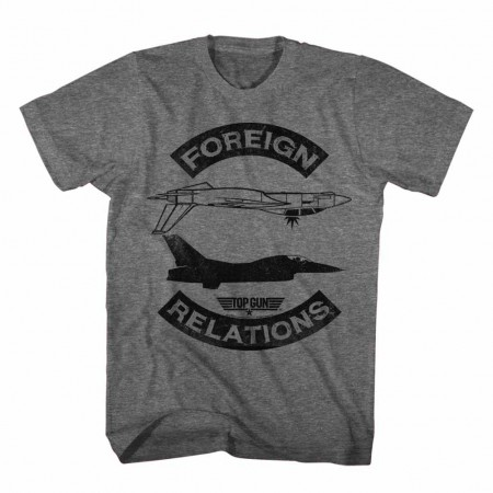 Top Gun Foreign Relations Gray TShirt