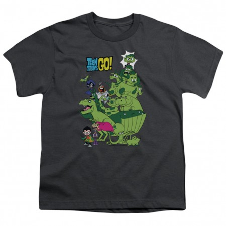 Teen Titans Go! Beast Boy Stack Youth Tshirt
