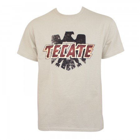 Tecate Logo Tan Tee Shirt