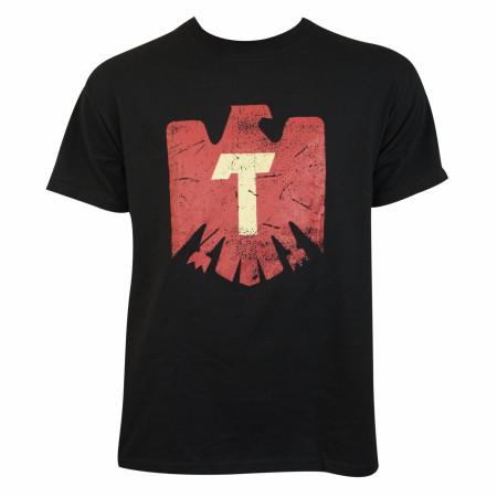 Tecate Eagle Logo Black Tee Shirt