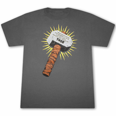Thor Whosoever Holds This Hammer Men's Gray Graphic T-Shirt