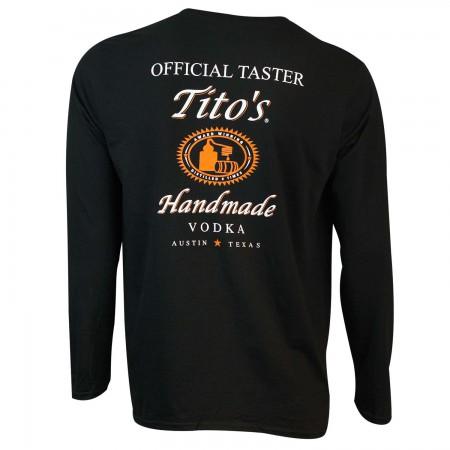 Tito's Vodka Long Sleeve Taster Black Shirt