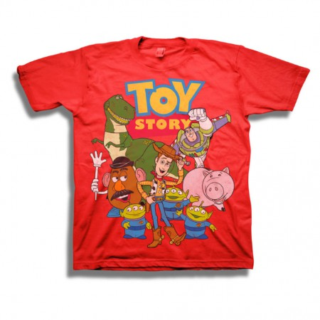 Toy Story Movie Logo Youth Boys Red T-Shirt