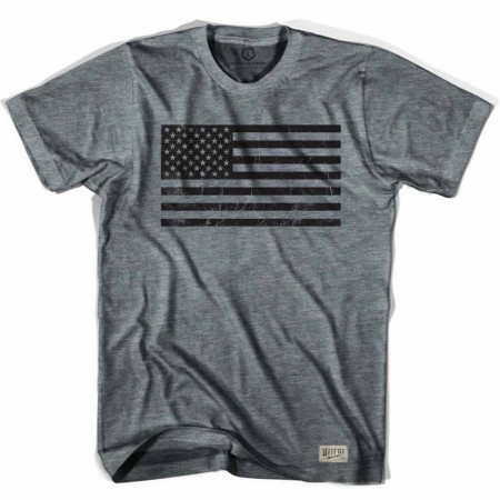 American Black Flag Soccer Gray T-Shirt