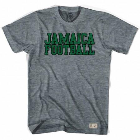 Jamaica Football Nation Soccer Gray T-Shirt