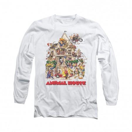 Animal House Poster Art White Long Sleeve T-Shirt